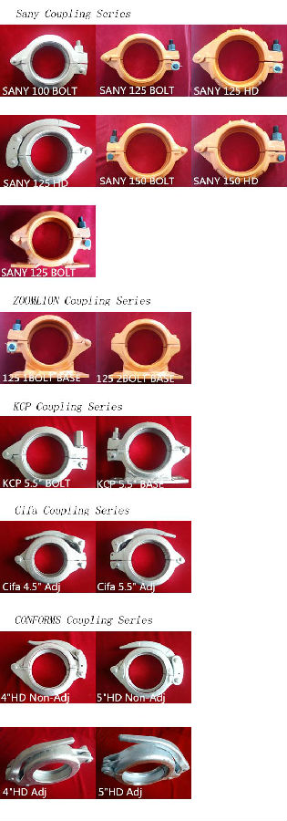 Concrete Pump Clamp Coupling MF125 Forged