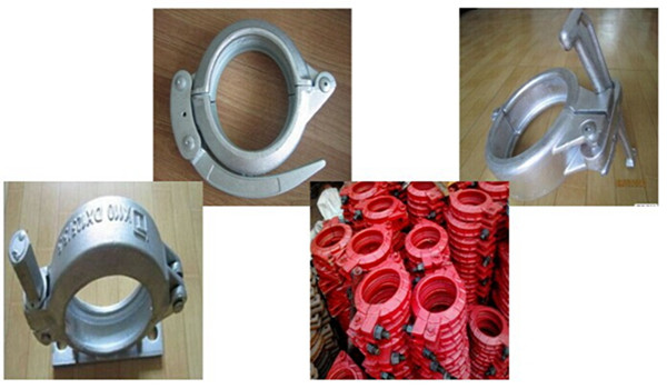 DN125 Truck Mounted Concrete Pump Pipe Snap Clamp