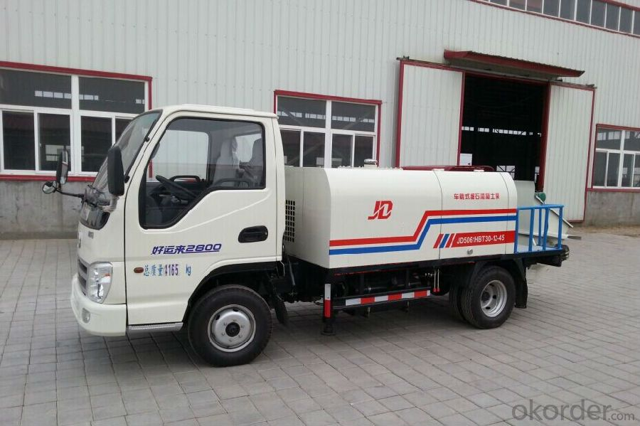 Truck Mounted Fine Aggregate Concrete Pump XBS40-12-55