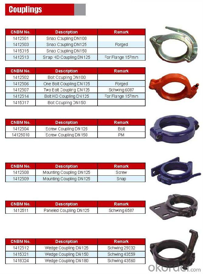 Concrete Pump Truck Parts Elbow DN125 R275 15DGR 148MM Mn13-4 Casting
