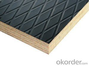 BLACK Anti-slip Film Faced Plywood Formworkan