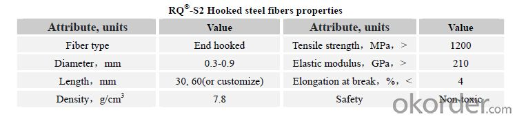 Hooked Steel Fiber for Concrete High Strength