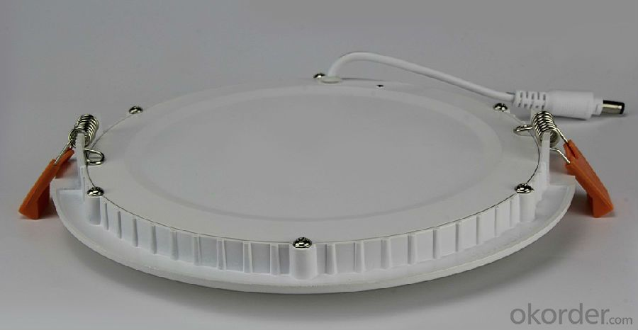 Slim Led Panel Light 6W CRI 80 PF 0.5 Recessed Mount Round Shape
