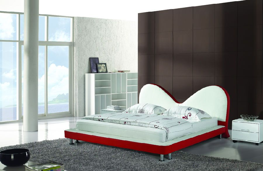 Modern Bedroom Leather Bed 2014 Type CMAX-A05