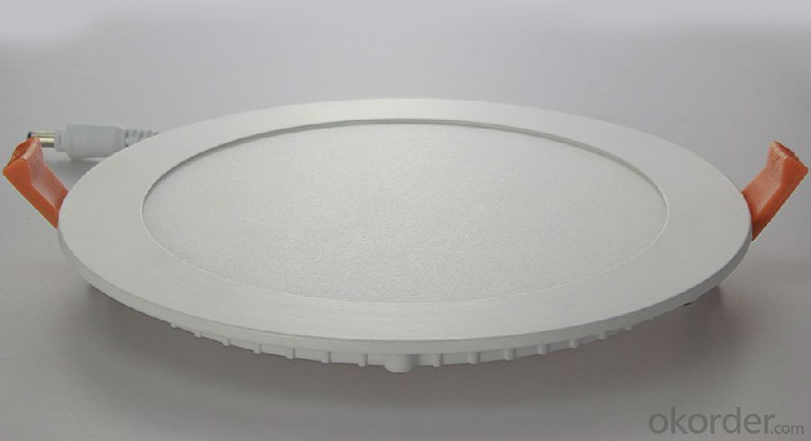 Led Panel Light 12W Recessed Mount Round Shape