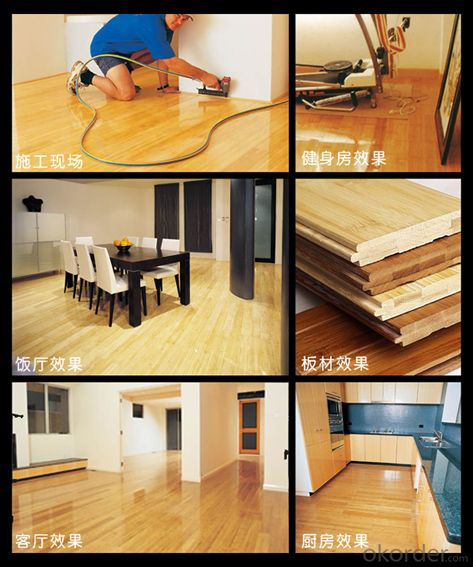 High Quality Natural Horizontal  Solid Bamboo Flooring