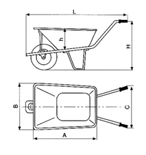 Wheel Barrow with  WB7601 For Construction