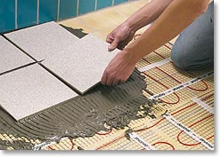 Ceramic flooring for Floor Heating System