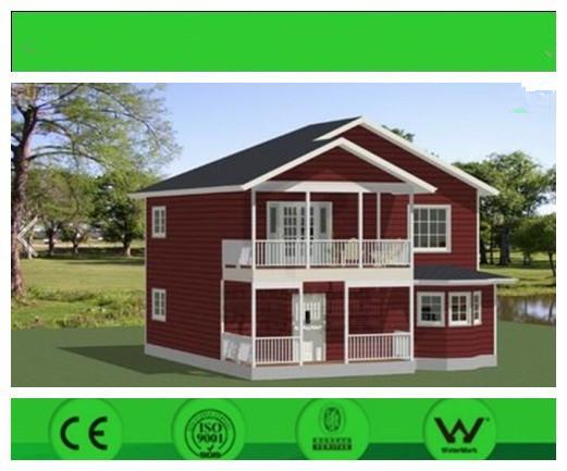 Steel Prefabricated House Light Steel Villa Two Floors Aspahalt Tile Roof