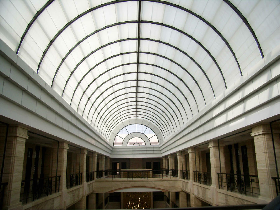 FSS Scroll Skylight Roof  Blinds for Glass Ceiling of Hotel