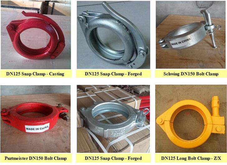 Concrete Pump Clamp Snap Coupling  DN125