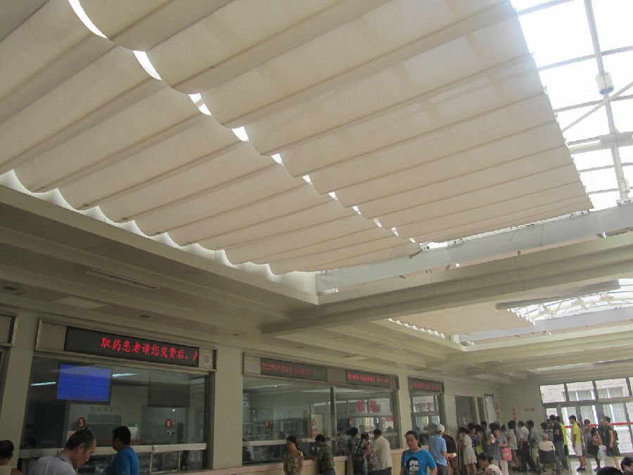 Ceiling Roller Blinds for Sunshade Project
