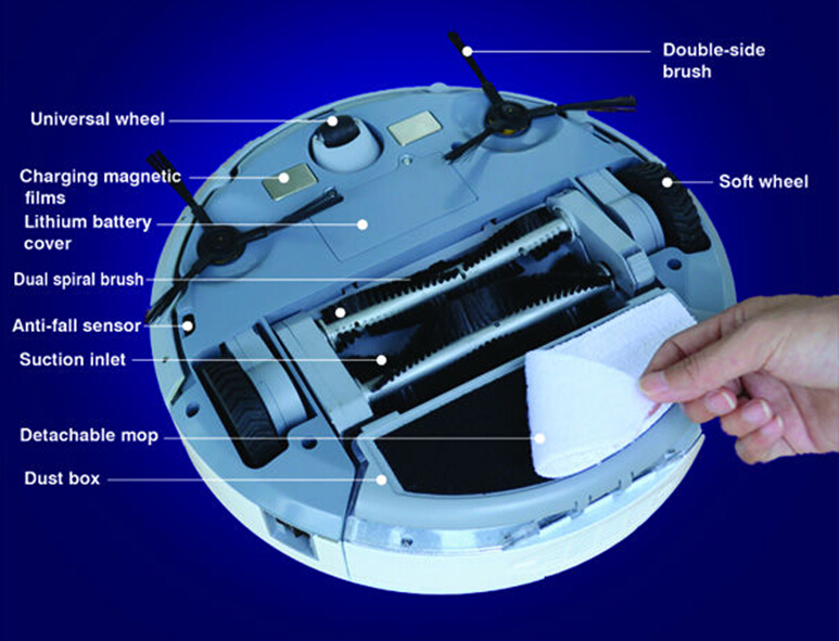 Newest Design Multifunction Robot Vacuum Cleaner