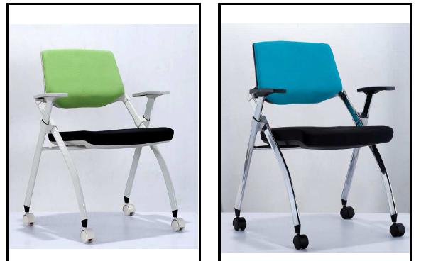 Stacking Chair Training Chair Meeting Chairs Mesh PU Office Chairs 6128