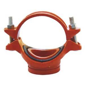 Ductile iron Grooved Fitting of Flexible Couplings Tee