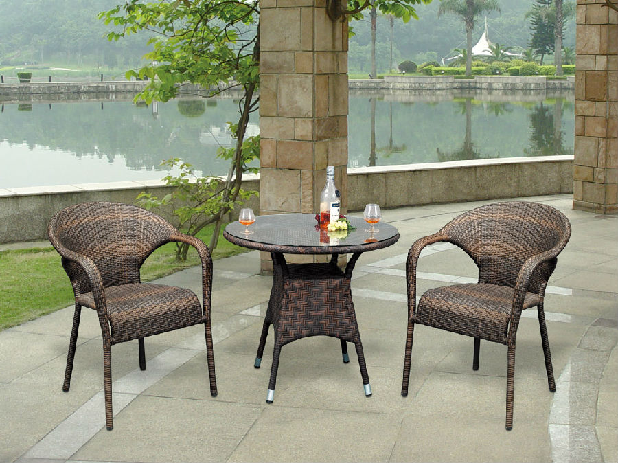Rattan Garden Dining Chair Patio Wicker Coffee Table Furniture