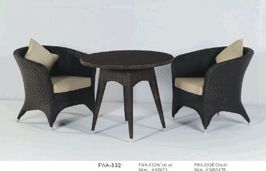 Rattan Garden Bar Set Outdoor Chair Patio Wicker High Table with Stool