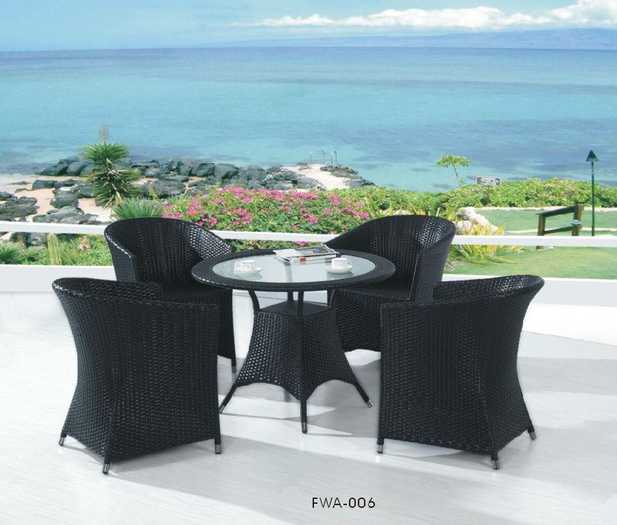 Iron Cast Outdoor Chairand  Rattan Garden Dining Set