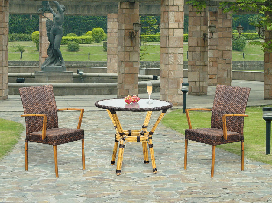 Patio Wicker  Furniture Rattan Outdoor Garden Dining Set