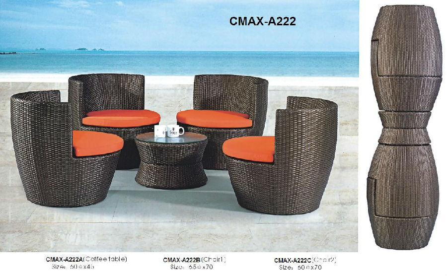 Garden Set for Space Saved Cute  Outdoor Furniture CMAX-A222