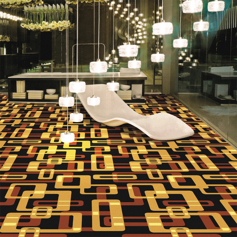 Modern Floral Pattern Fire Resistance Nylon Carpet Broadloom Printed Carpet for Hotel