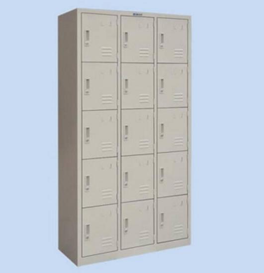 Metal Locker Office Furniture Steel Cabinet School Glass Double Door