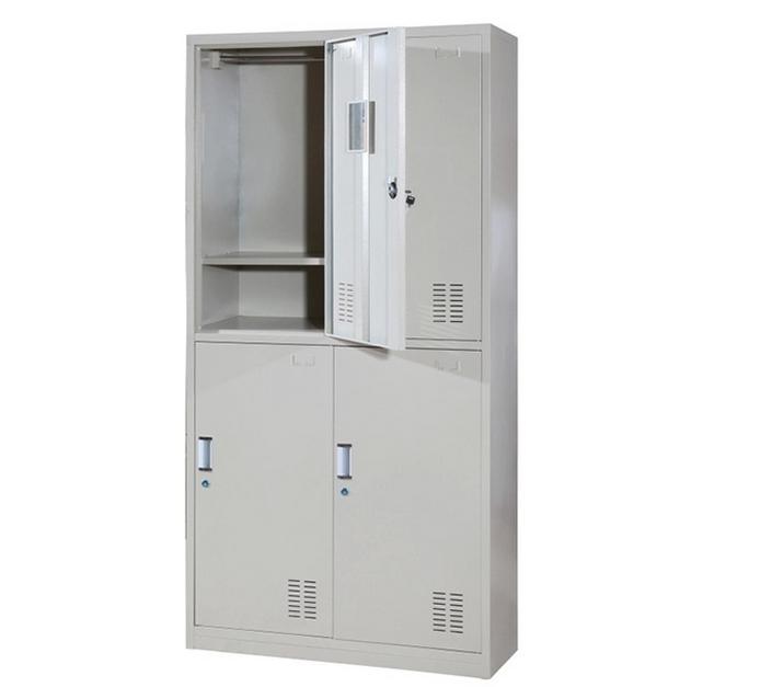 Metal Locker  Steel Cabinet School Office Furniture Glass Double Door