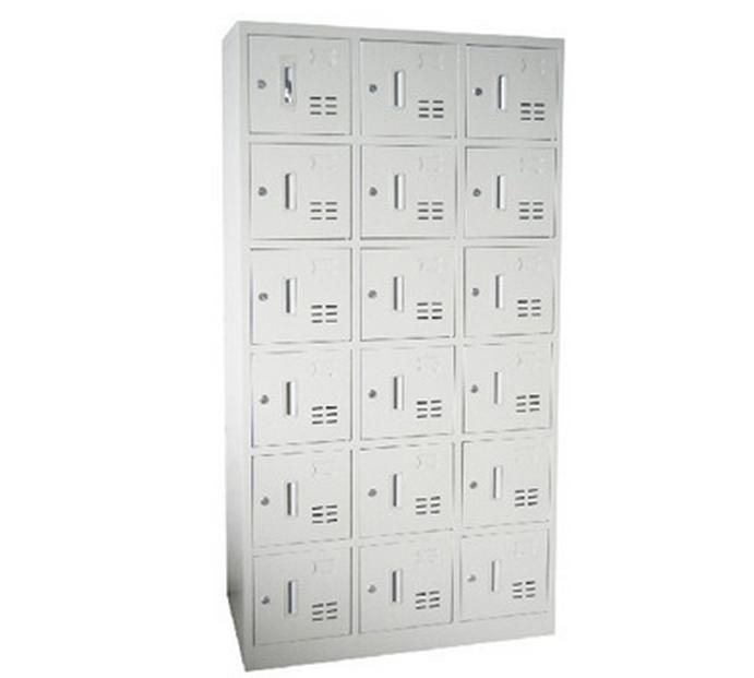 Metal Locker Office School Glass Double Door Furniture Steel Cabinet