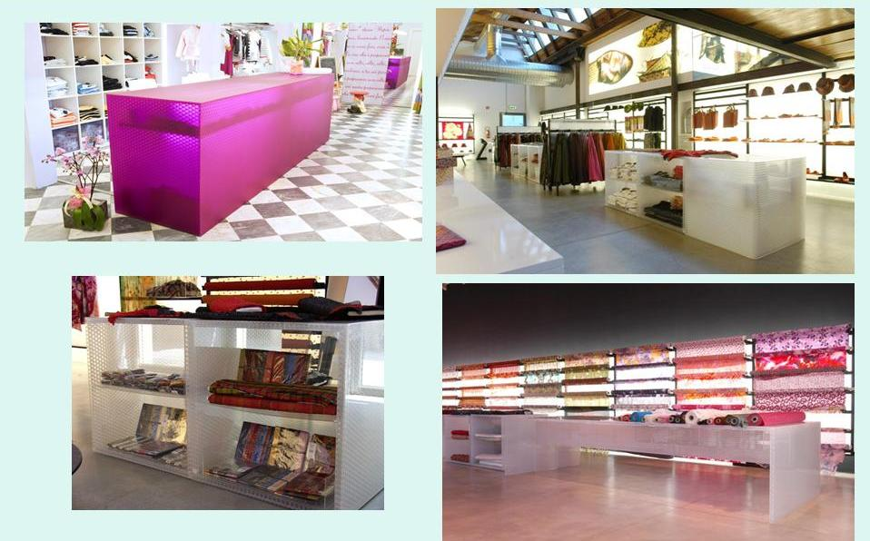 PMMA Decorative water drop panel Widely Used in Hotel and Shopping Mall