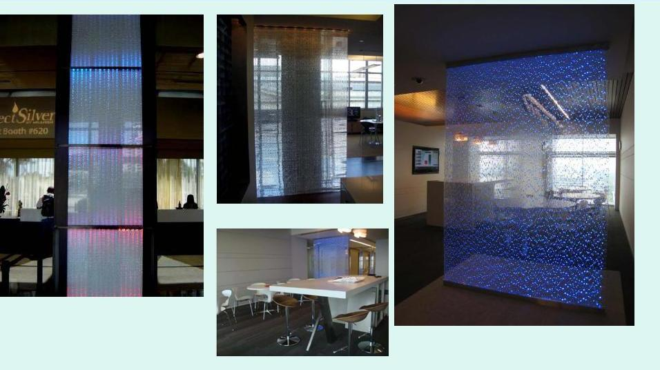 PETG Crystal Honeycomb Decorative Panel widely used in Partition