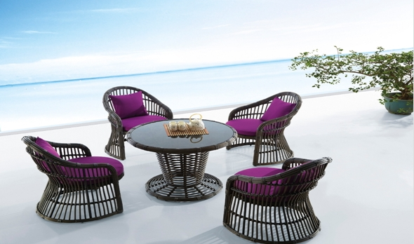 Furniture Leisure Garden Rattan Outdoor Table