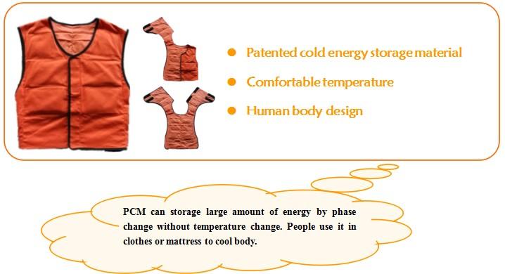 PCM cooling vest