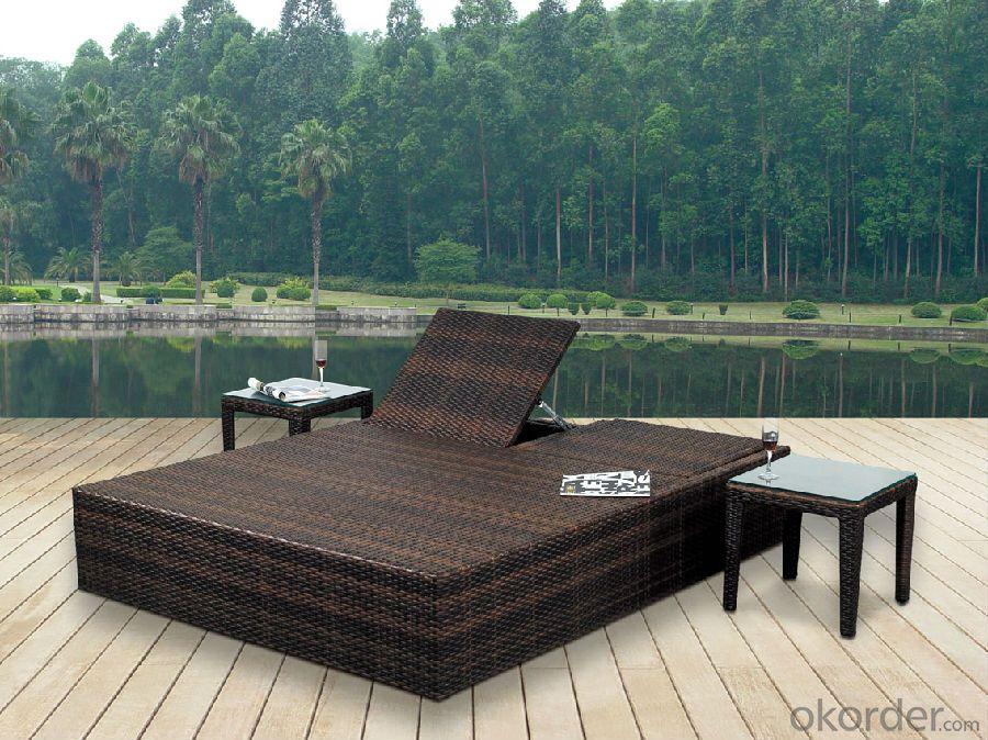 Rattan Sun Lounger Wicker Garden Patio Sun Bed