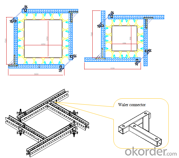 Adjustable H20 Timber Beam Formwork For Rectangle Concrete Column Formwork