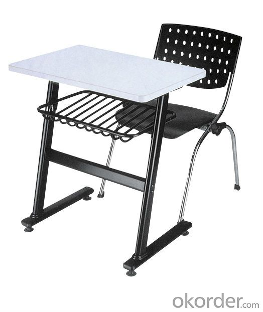 MDF & Chromed metal student desk and chair H-747