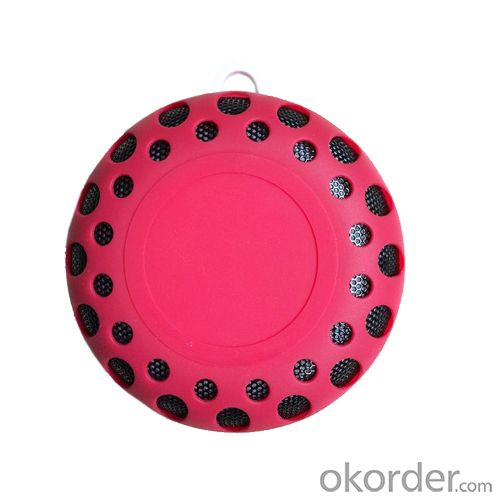 Outdoor Waterproof Rain-Resistant Wireless Bluetooth Speaker with a Latch Hook