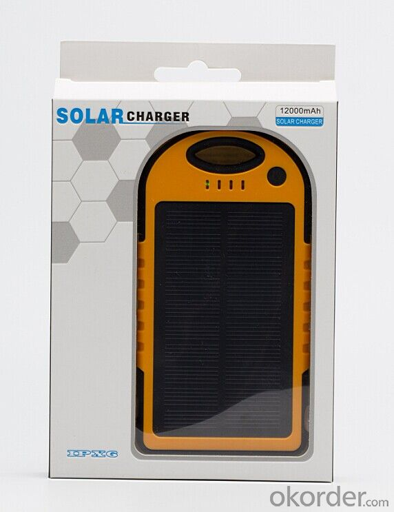 12000mAh Sport Design Waterproof Solar Power bank