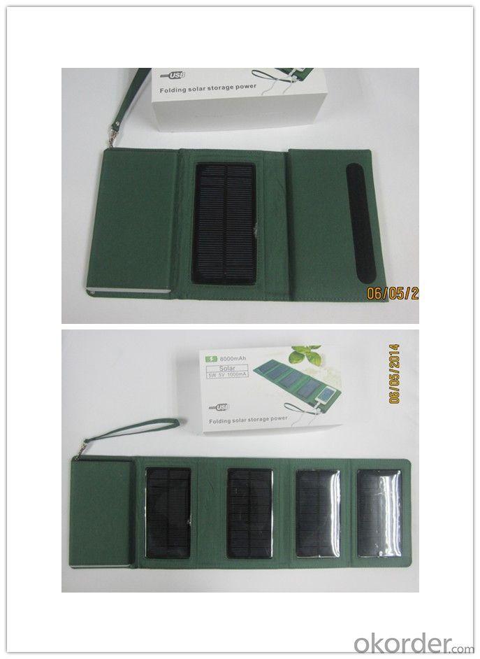 Outdoor Solar Power Bank 8000mAh for Smartphones/Laptop