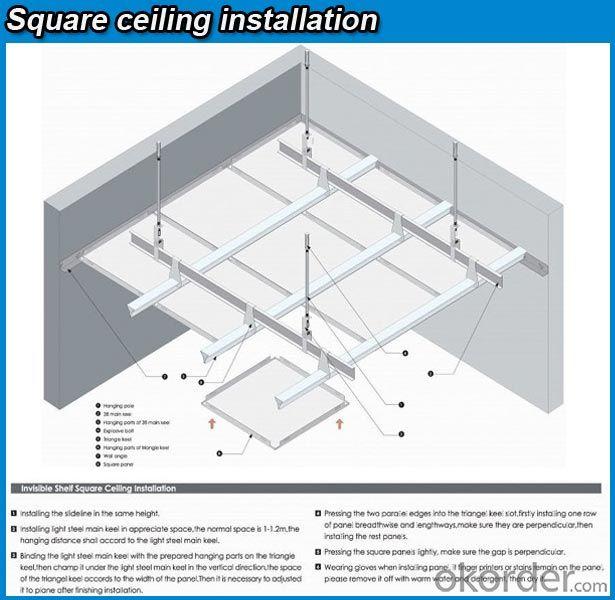 hot sale popular lay in aluminum ceiling tile