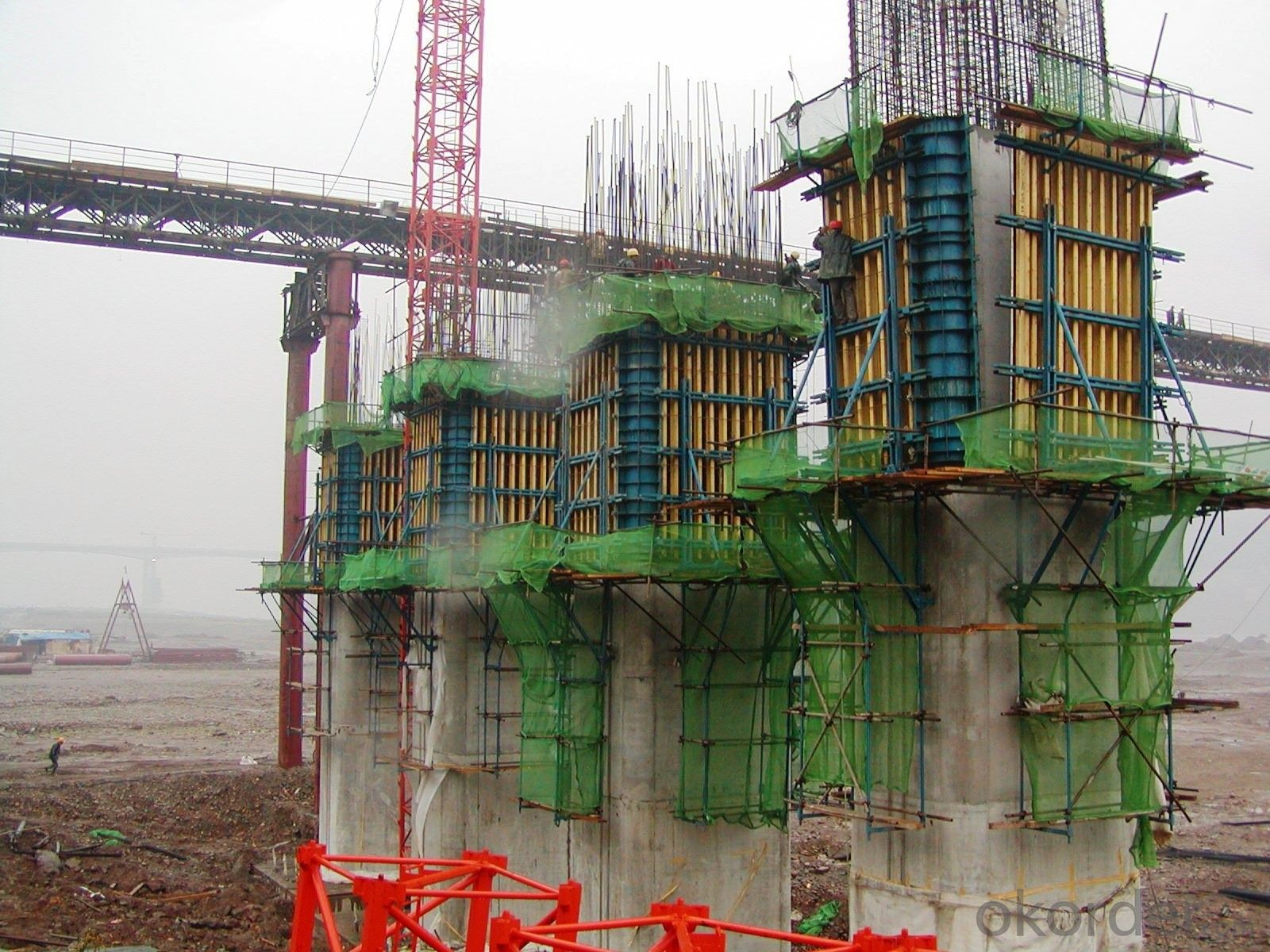 Safe Single - Side Climbing System / Climbing Formwork For Dams , Cooling Towers