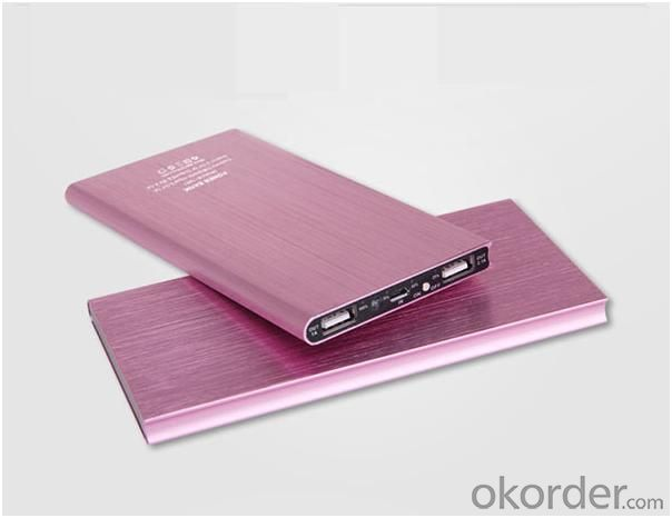 6000mAh Slim Portable Power Bank with Dual Output (AM-PB44)