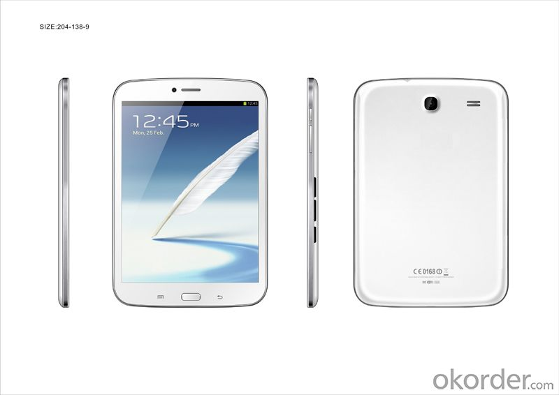 7.85 Inch Dual Core Dual SIM 3G Call Android MID with WiFi and Bluetooth