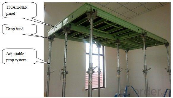 150 Aluminum Frame Slab Formwork System With Adjustable Prop