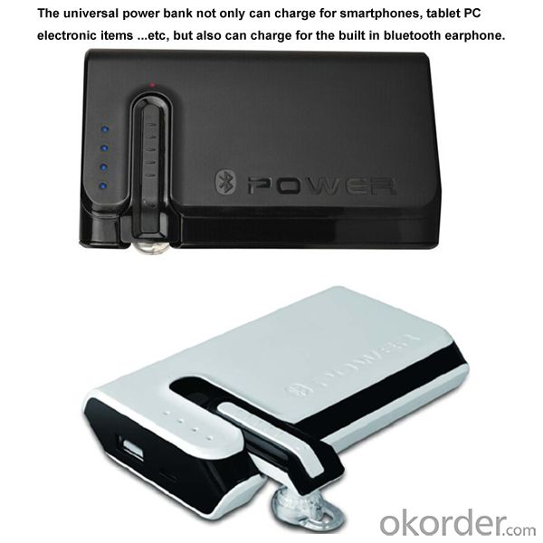 Newest Arrival Mobile Power Bank 7800mAh with Bluetooth Earphone (BT-03)