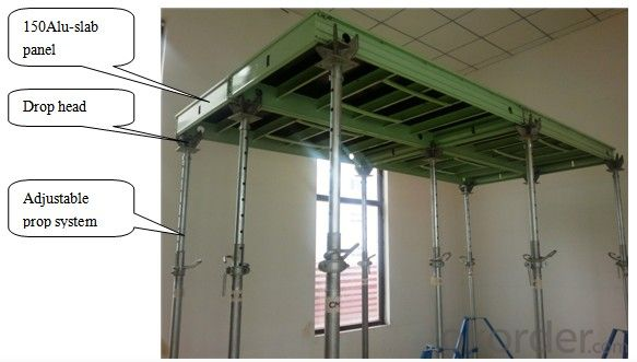 150 Aluminum Frame Slab Formwork System With Adjustable Prop