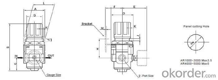 Air regulator pneumatic regulator air units air source treatment units pneumatic component smc AR4000-04
