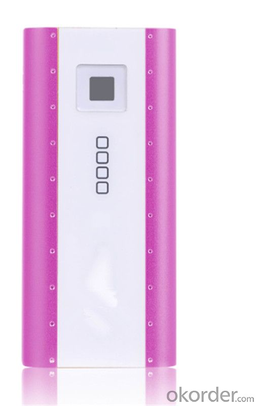 New Fashion Design Portable Power Bank with LED Flashing Light