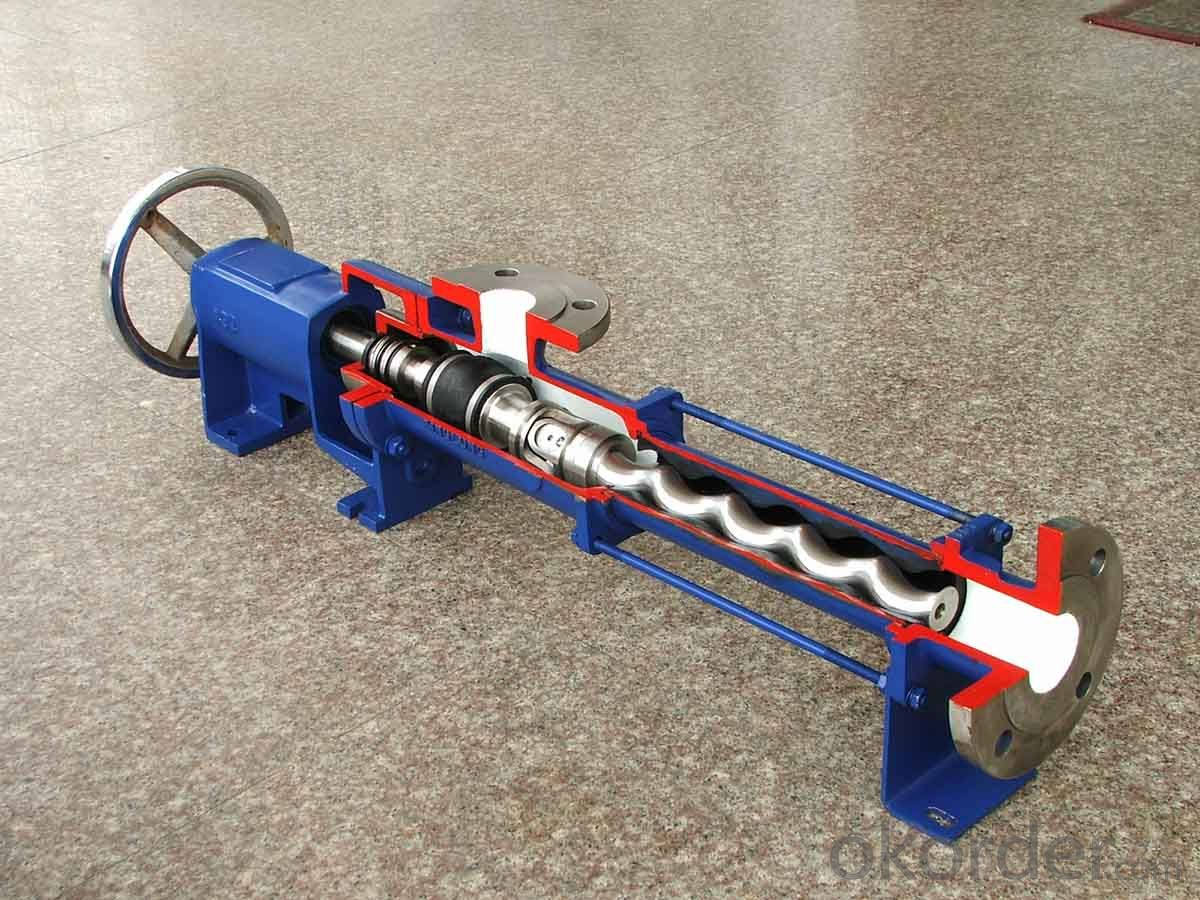 horizontal submersible cement screw pump