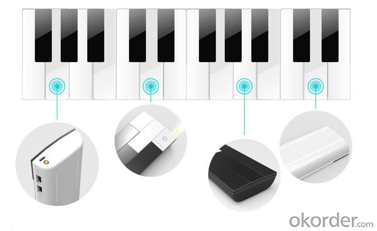 9000mAh Piano Portable Mobile Power Bank (PB-008)