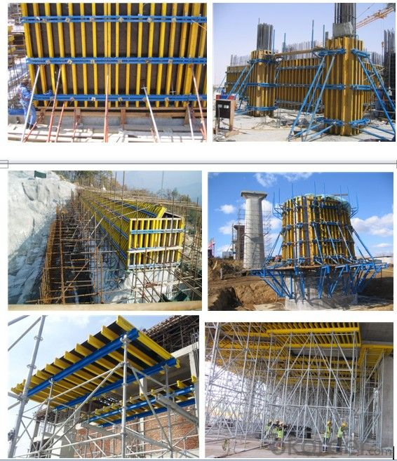 H20 Timber Beam with a Full-Section End Cap for Formwork Girder
